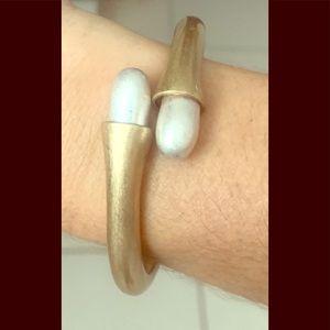 Bracelet brass and silver